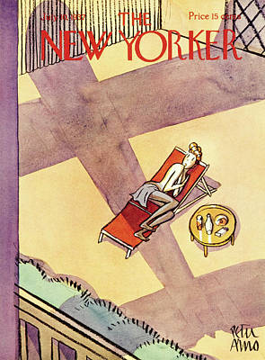 Plane Painting - New Yorker July 10 1937 by Peter Arno