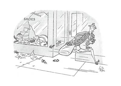Run Away Drawing - New Yorker July 10th, 1943 by George Price