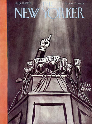 Speeches Painting - New Yorker July 10th, 1948 by Peter Arno