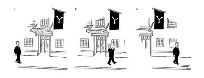 League Drawing - New Yorker July 10th, 1954 by Mischa Richter