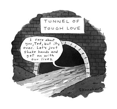 Entrance Drawing - New Yorker July 10th, 1995 by Danny Shanahan
