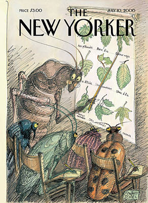 Teach Painting - New Yorker July 10th, 2000 by Edward Sorel