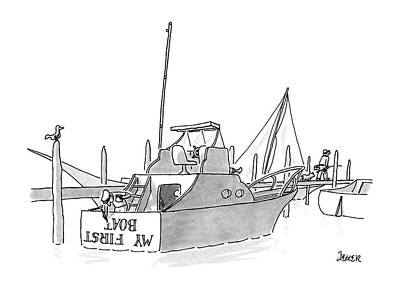 Sailing Drawing - New Yorker July 11th, 1988 by Jack Ziegler