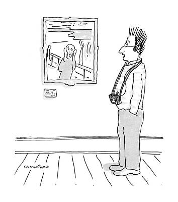 Museums Drawing - New Yorker July 11th, 1988 by Michael Crawford