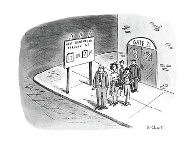 Stop Sign Drawing - New Yorker July 11th, 1988 by Roz Chast