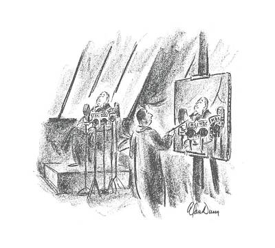 Model Drawing - New Yorker July 12th, 1941 by Alan Dunn