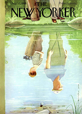 Reflections In Water Painting - New Yorker July 12th, 1958 by Rea Irvin