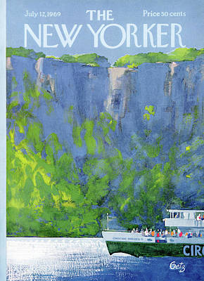 Seashore Painting - New Yorker July 12th, 1969 by Arthur Getz
