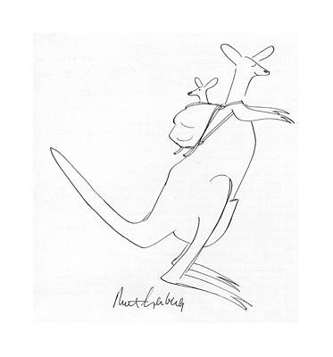 Kangaroo Drawing - New Yorker July 12th, 1976 by Mort Gerberg