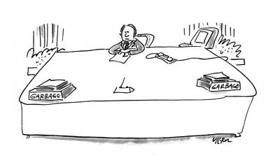 Out Basket Drawing - New Yorker July 12th, 1993 by Dean Vietor