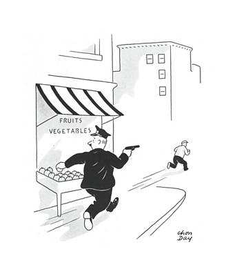 Action Drawing - New Yorker July 13th, 1940 by Chon Day