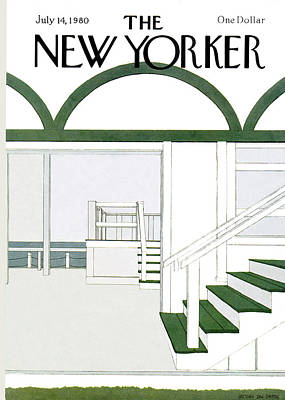 Simpson Painting - New Yorker July 14th, 1980 by Gretchen Dow Simpson