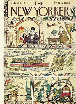 D Painting - New Yorker July 15th, 1944 by Rea Irvin