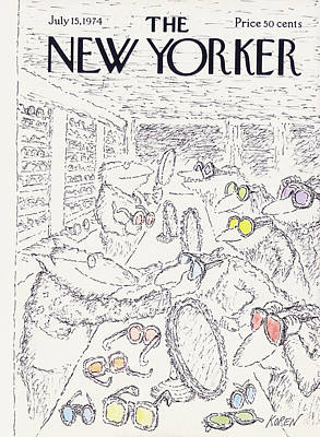 July Painting - New Yorker July 15th, 1974 by Edward Koren