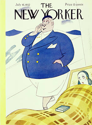 Deck Chair Painting - New Yorker July 16 1932 by Rea Irvin