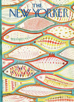 July Painting - New Yorker July 16th, 1966 by Ilonka Karasz