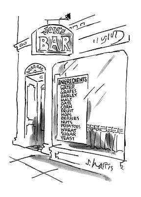 Food And Beverage Drawing - New Yorker July 16th, 1990 by Sidney Harris