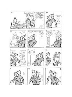 Amusements Drawing - New Yorker July 17th, 1943 by Julian de Miskey