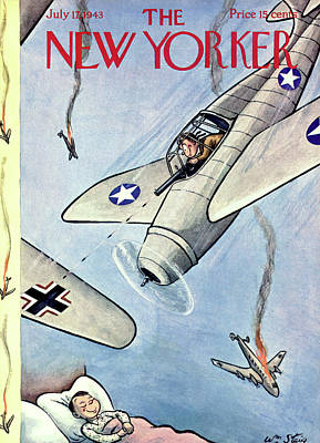 Painting - New Yorker July 17th, 1943 by William Steig