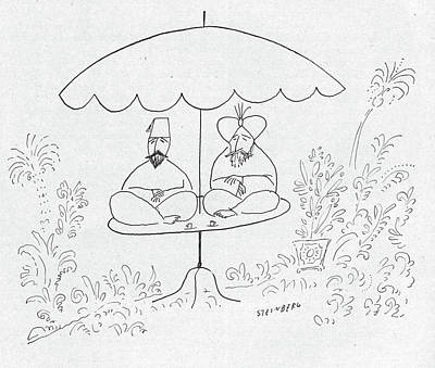 New Yorker July 17th, 1954 Art Print by Saul Steinberg