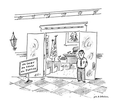 Entrance Drawing - New Yorker July 17th, 1995 by Michael Maslin
