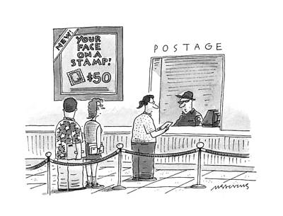 Stamps Drawing - New Yorker July 17th, 1995 by Mick Stevens