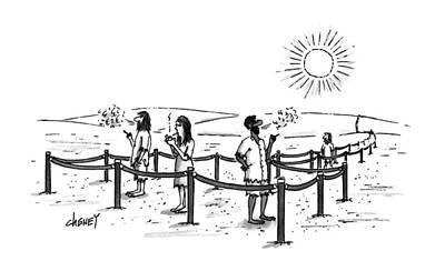 Desert Drawing - New Yorker July 17th, 1995 by Tom Chene