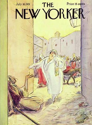 Charity Painting - New Yorker July 18 1931 by Helene E. Hokinson