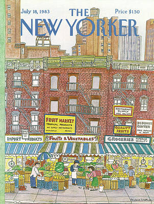 Urban Store Painting - New Yorker July 18th, 1983 by Barbara Westman