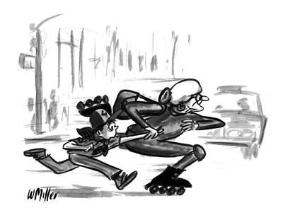 Old Street Drawing - New Yorker July 18th, 1994 by Warren Miller
