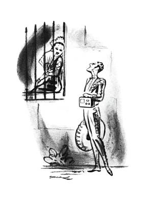 Senorita Drawing - New Yorker July 19th, 1941 by Leonard Dove