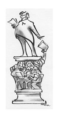 Giving Drawing - New Yorker July 19th, 1976 by Lee Lorenz
