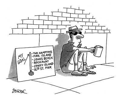 At-st Drawing - New Yorker July 19th, 1993 by Jack Ziegler
