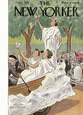 July 4 Painting - New Yorker July 1st, 1933 by Helen E. Hokinson