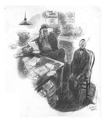 Author Drawing - New Yorker July 1st, 1933 by Richard Decker
