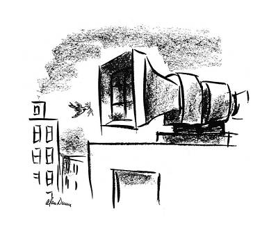 Warning Drawing - New Yorker July 1st, 1944 by Alan Dunn