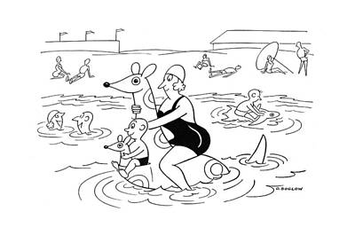 Kangaroo Drawing - New Yorker July 1st, 1944 by Otto Soglow