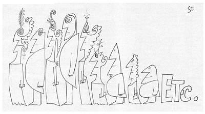 New Yorker July 1st, 1961 Art Print by Saul Steinberg