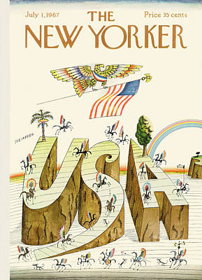 4th Of July Painting - New Yorker July 1st, 1967 by Saul Steinberg
