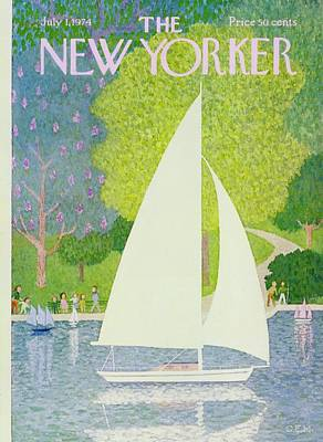 Leisure Painting - New Yorker July 1st 1974 by Charles Martin