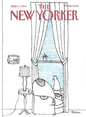 New Yorker July 1st, 1985 Art Print by Robert Tallon