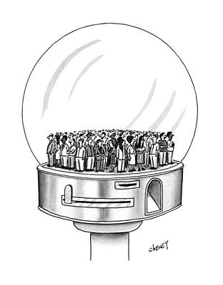Miniatures Drawing - New Yorker July 1st, 1991 by Tom Cheney