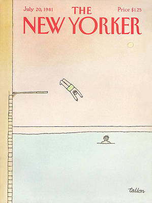 Summer Sports Painting - New Yorker July 20th, 1981 by Robert Tallon