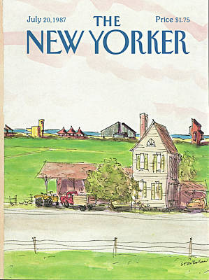In The Distance Painting - New Yorker July 20th, 1987 by James Stevenson