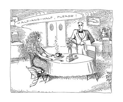 Mermaid Drawing - New Yorker July 20th, 1992 by John O'Brien
