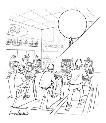 20th Drawing - New Yorker July 20th, 1998 by Mort Gerberg