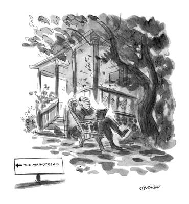 Rocking Chairs Drawing - New Yorker July 21st, 1975 by James Stevenson