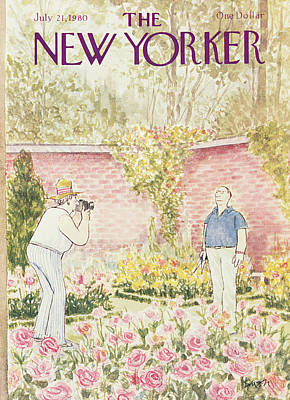 1980 Painting - New Yorker July 21st, 1980 by Charles Saxon