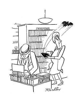 Author Drawing - New Yorker July 22nd, 1944 by Mischa Richter