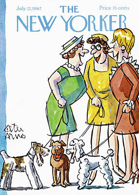 Pooch Painting - New Yorker July 22nd, 1967 by Peter Arno